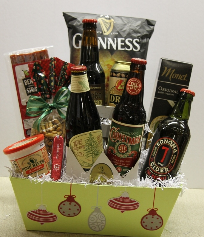 custom gourmet gift baskets beer