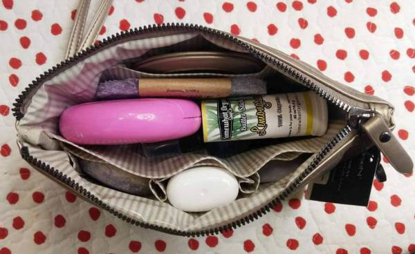 packed travel pouch