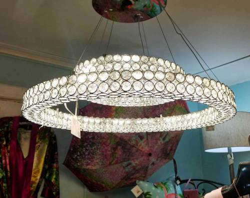 Mid-Century Modern Double O Chandelier